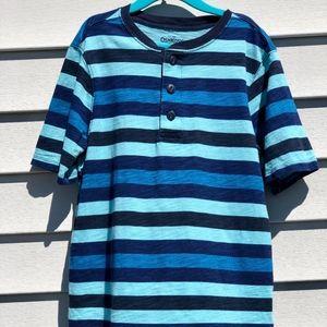 OSHKOSH B'GOSH cute blue striped short sleeve top